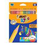 Set 18 creioane de colorat BIC Evolution Stripes