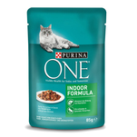 Purina ONE Mini file cu ton si fasole verde in sos, indoor formula, 85 g