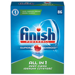 Detergent pentru masina de spalat vase Finish All in One 86 tablete