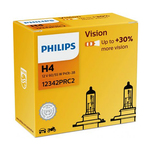 Bec Philips Auto Vision H4, 12 v, 2 bucati